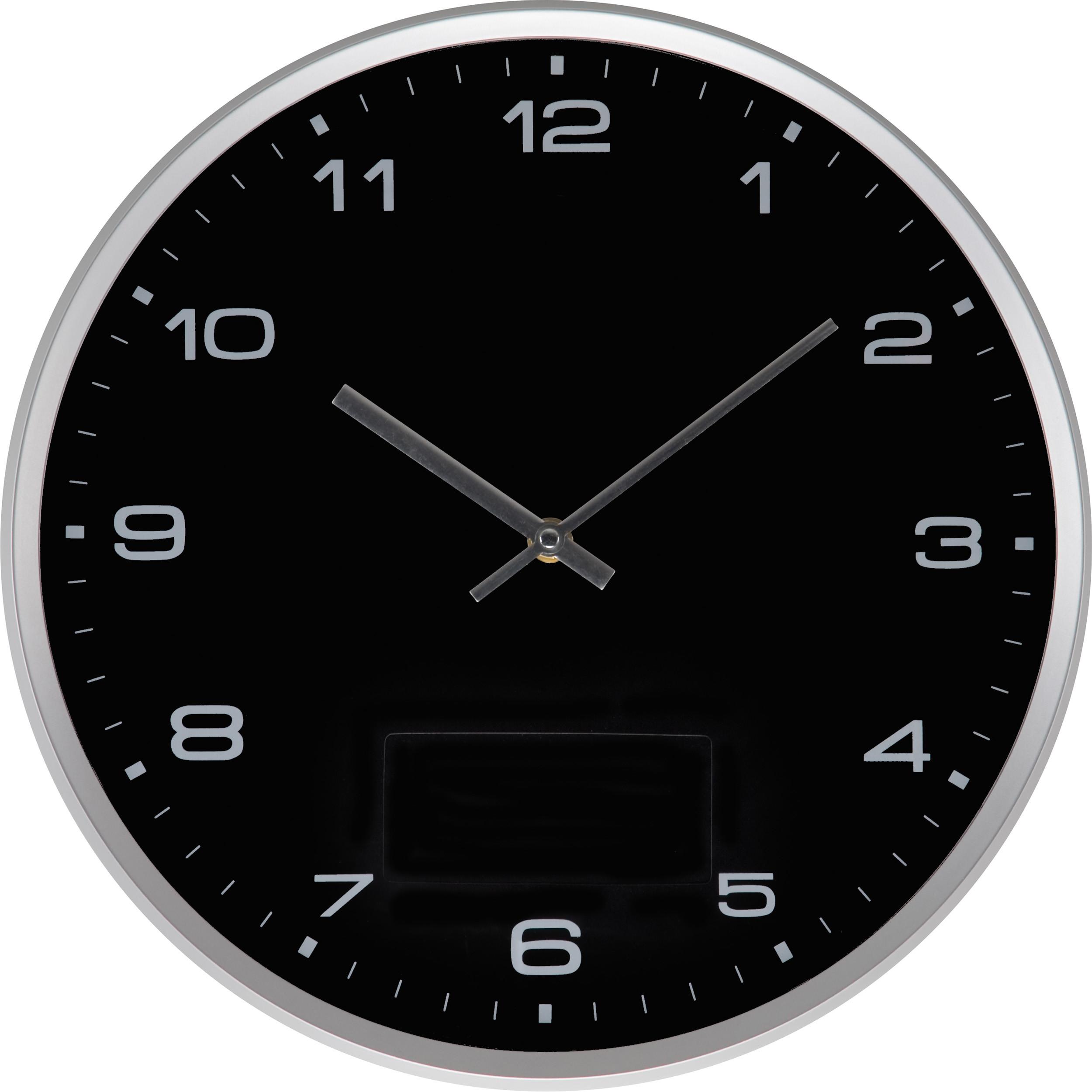 Macma Iberia | Reloj de pared con marco plateado y sistema click