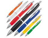 Bolígrafo plástico multicolor con clip metálico
