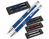 Set de bolígrafo y portaminas metálico