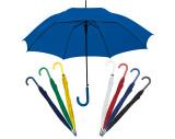 Paraguas automático, mango de plástico curvo.