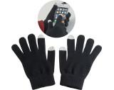 Los guantes acrílicos con toque en la punta de dos dedos.